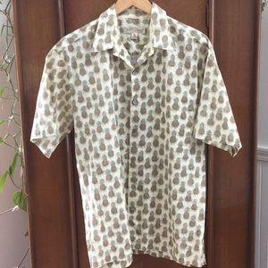 Tori Richard pineapple shirt